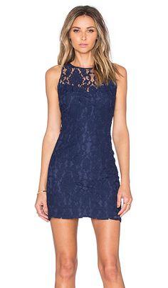 BB Dakota Larelle Lace Dress in Navy   REVOLVE