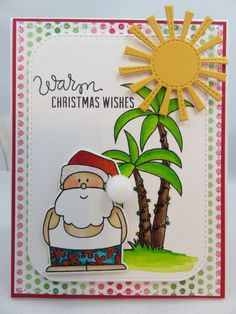 Warm Christmas Wishes  -  Handmade Greeting Card by creationsbywendalyn on Etsy