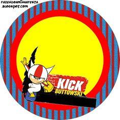 Kick Buttowski - Kit Completo com molduras para convites, rótulos para guloseimas, lembrancinhas e imagens!
