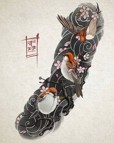 Japanese Snake Tattoo, Japanese Sleeve Tattoos, Tattoo Sketches, Tattoo Drawings, Body Art Tattoos, Koi Tattoo Sleeve, Oriental Tattoo, Irezumi Tattoos, Neo Traditional Tattoo