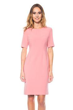 aa729e2ec620 Dopasowana sukienka w kolorze malaga BIALCON - FS INSPIRE