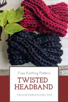 knitting headband Easy fun to make twisted headband knit pattern. Perfect pattern to knit ear warmers to wear with your top knot bun. Easy fun to make twisted headband knit pattern. Perfect pattern to knit ear warmers to wear with your top knot bun. Knitting Blogs, Easy Knitting Patterns, Free Knitting, Easy Patterns, Cowl Patterns, Easy Knitting Projects, Knitting Sweaters, Blouse Patterns, Easy Projects