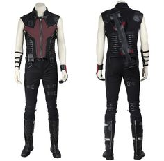 Material: Faux Leather, Package: Top, Pants, Quiver, Belt, Gloves, Hand guard