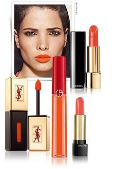 Orangeade http://www.vogue.fr/beaute/tendance-des-podiums/diaporama/rouge-a-levre-orange-orangeade/15733