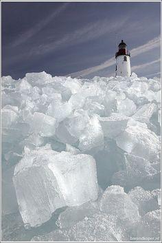 Iced Lighthouse ~ Holland
