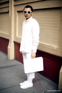 Street style Ny #allwhite