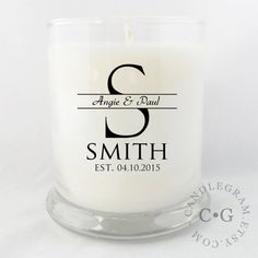 Candle Soy 10oz....New Home Wedding gift Hostess by CandleGram