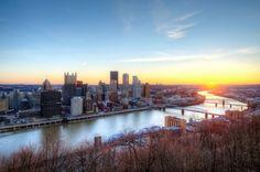 Sunrise over Pittsburgh - beautiful!