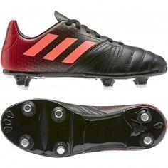 Chaussures Kakari Light SG 18 Adidas noir rouge RUGBY STORE