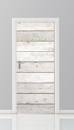 Super mooie deursticker van steigerhouten planken. De sticker kan ook geplakt worden op bijvoorbeeld de kledingkast.