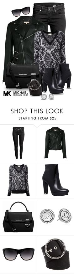 """""""MICHAEL Michael Kors-Bag & Shoes"""" by gianna-pellegrini ❤ liked on Polyvore featuring H&M, MICHAEL Michael Kors and Michael Kors"""
