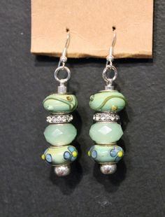 BeadGlitz European Glass Bead Drop Earrings