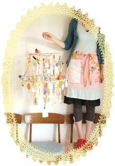 Dottie Angel Mobiles, Paper Chandelier, Mobile Chandelier, Branch Chandelier, Paper Lamps, Chandelier Lighting, Bebe Love, Dottie Angel, Estilo Hippy