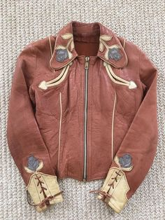 "EAST WEST MUSICAL INSTRUMENTS Vintage ""Rodeo""  Women's Leather Jacket XS"
