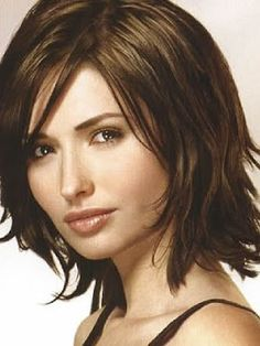 You can also try a medium bob. In this medium-length hairstyle, your hair is subtly layered and given side-bangs to emphasize your facial features. This style is perfect for those with heart and square-shaped faces, because the side swept bangs can soften strong features such as prominent jawbones and an elongated chin.