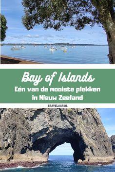 Op zoek naar één van de mooiste plekken in Nieuw Zeeland? Zoek niet verder! Bay of Islands is één van de mooiste plekken in het land. Hier delen we al onze beste reistips en de mooiste bezienswaardigheden. Abel Tasman, New Zealand Travel, Backpacker, Auckland, Australia Travel, Travel Tips, World, Beach, Water