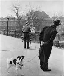 ۞ ۩ஜ Photo by Robert Doisneau Fox terrier on the Pont des Arts , Paris France Fox Terriers, Robert Doisneau, Brassai, Vintage Paris, Vintage Dog, French Photographers, Tier Fotos, Man Ray, Ansel Adams