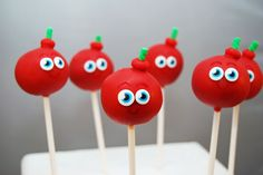 Cherry Bomb Moshi Monster — Cake Pops / Cake Balls
