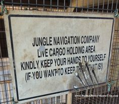 """Disney Jungle Cruise Narration - """"Your attention, please. We do not allow cutting in line here at the world-famous Jungle Cruise. Anyone caught with a pair of scissors will be asked to leave."""" - For a list of 45 great #Disney World freebies & free newsletter, see: http://www.buildabettermousetrip.com/disney-freebies/"""