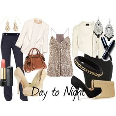Day To Night: Sequin Top., created by #theedeandrab on #polyvore.