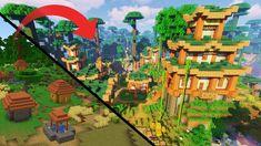 Transforming a 1 14 Savanna Village Minecraft Build Timelapse in 2020 Savanna biome Biomes Village