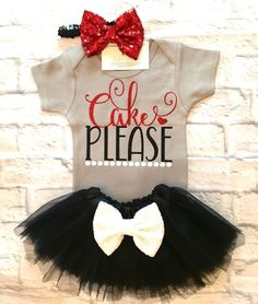 Baby Girl Clothes, Cake Please Onesies, Cake Please Shirts, Baby Girl Birthday Bodysuits, Smash Cake Onesies, Baby Girl Birthday Outfits, Cake Please - BellaPiccoli