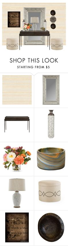 """""""Untitled #399"""" by tujuana ❤ liked on Polyvore featuring interior, interiors, interior design, home, home decor, interior decorating, Hooker Furniture, Nearly Natural, Jamie Young and Caracole"""