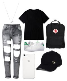 """red"" by kingoliversykes on Polyvore featuring adidas, Fjällräven en Links of London"