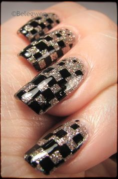 Nail Art by Belegwen: Shimmer Polish: Irene