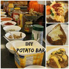 Restaurant Baked Potatoes for a Crowd {DIY Potato Bar)