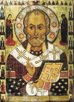 THE FINE ART DINER: From Saint Nicholas to Santa Claus (analysis of the basis of St. Nicholas and how today's Santa Claus still calls us to be holy) Religious Icons, Religious Art, Vampiro Real, History Of Santa Claus, Original Santa Claus, St Nicholas Day, Niklas, Russian Icons, Russian Style