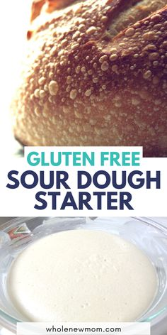 This gluten free sour dough starter is so easy to make and will satisfy all your sour dough cravings! Plus it only takes a few ingredients to make! Grab the recipe now! - Gluten-free or Grain-free Sourdough Starter Patisserie Sans Gluten, Dessert Sans Gluten, Gluten Free Desserts, Dairy Free Recipes, Real Food Recipes, Wheat Free Recipes, Gluten Free Sourdough Bread, Gluten Free Flour, Gluten Free Cooking