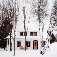 Home in Mont-Sainte-Anne, a ski resort in the town of St-Ferreol-les-Neiges, Quebec, Canada. ❄️❄️❄️