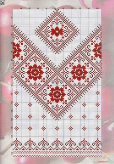 This Pin was discovered by Sve Cross Stitch Borders, Cross Stitch Flowers, Cross Stitch Charts, Cross Stitch Designs, Cross Stitching, Cross Stitch Patterns, Blackwork Embroidery, Folk Embroidery, Cross Stitch Embroidery