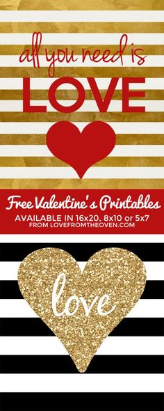 Free Valentine's Day Printables. These are darling framed!  #valentine #printable #free