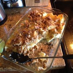Paula deen's bread pudding! Omg bread pudding is like the bomb!!! Lol