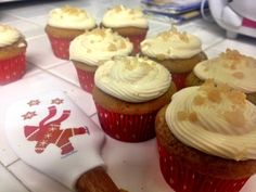 Ginger Spice Cupcakes with Salted Caramel Cream Cheese Frosting