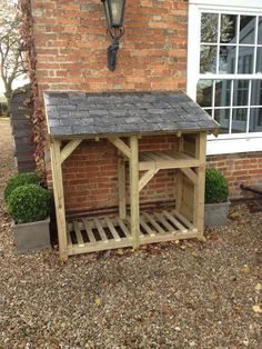 Log Store - Heavy Duty Bespoke Timber Log Store - Free Delivery and Assembly in Garden & Patio, Garden Structures & Shade, Other St… (With images) Outdoor Firewood Rack, Firewood Shed, Firewood Storage, Outdoor Storage, Log Shed, Timber Logs, Wood Storage Sheds, Storage Rack, Storage Organization