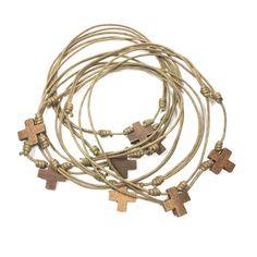 Gargantillas con cruz de madera Regalos de comunion. Regalos para invitados. Comuniones