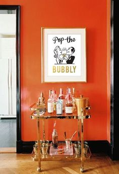 Loving this! Pop the Bubbly Printable Bar Art Party Printable New by PrintPunch
