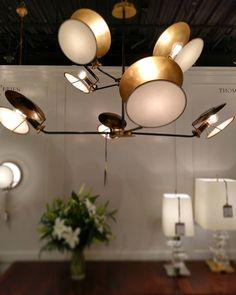 Cool statement chandelier from #thomasobrien @visualcomfortco #highpointmarket