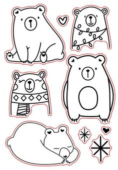 / clear transparent stamps for DIY Scrapb Ours/tampons transparents transparents pour bricolage Scrapbooking/fabrication d… Bear / Clear Transparent Stamps For DIY Scrapbooking / Card Making / Kids Fun Christmas Decoration Supplies Card - Diy Scrapbook, Scrapbooking, Animal Drawings, Cute Drawings, Tampons Transparents, Christmas Drawing, Digi Stamps, Doodle Art, Art For Kids