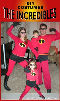 While They Snooze: How to Make The Incredibles Costumes