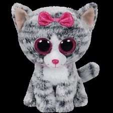 "Ty Beanie Boos - WILLOW the 6"" Justice Exclusive Cat ~ 2015 NEW Release"