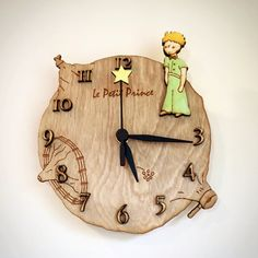 The Little Prince Desk / Wall Clock / Wood clock by gartsdesign