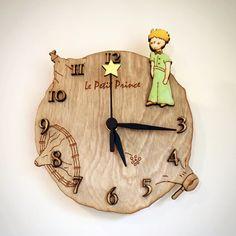 The Little Prince Desk / Wall Clock / Wood clock by gartsdesign