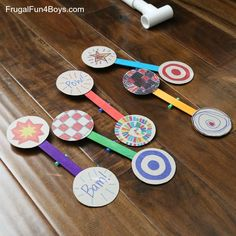 How to Make a Nerf Spinning Target - Frugal Fun For Boys and Girls Fun Games, Games For Kids, Diy For Kids, Activities For Kids, Crafts For Kids, Stem Activities, Party Games, Party Fun, Party Favors