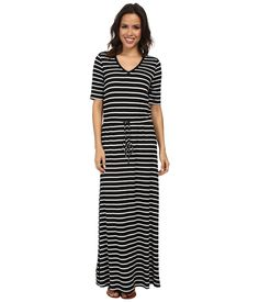 MARC NEW YORK BY ANDREW MARC S/S V-Neck Stripe Maxi Dress MD4FM573. #marcnewyorkbyandrewmarc #cloth #