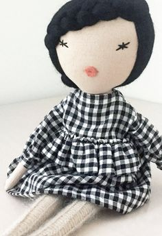 Beautiful Handmade Doll by lespetitesmainsS on Etsy