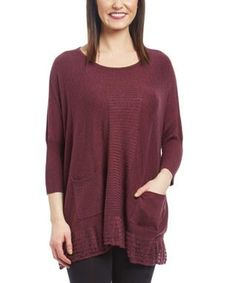 Love this Red Cowl Neck Swing Sweater on #zulily! #zulilyfinds ...